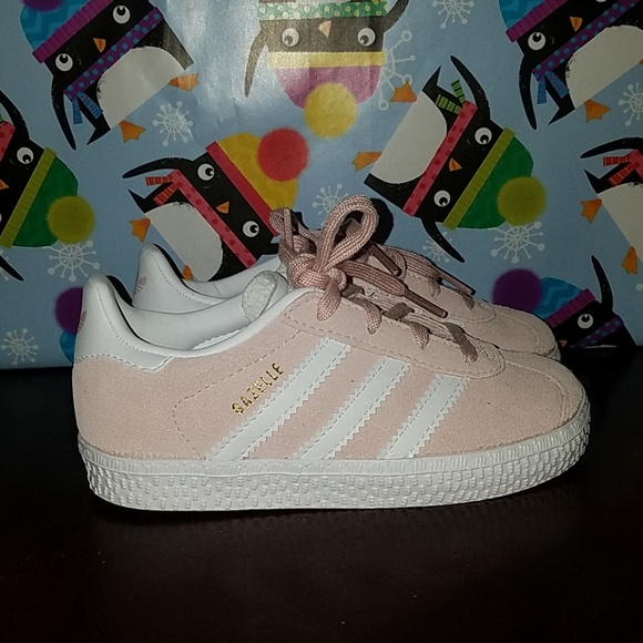 NEW ADIDAS GAZELLE ORIGINALS TODDLER GIRLS PINKISH NWT